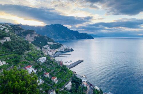 Blick auf Amalfi Stadt