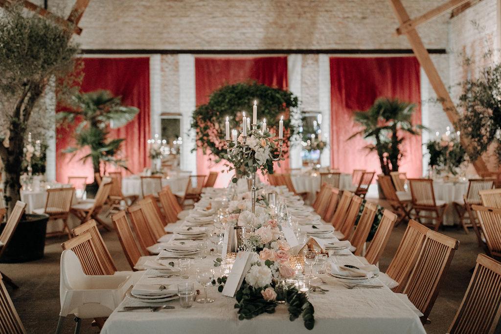 Location einer Hochzeit im mediterranen Stil