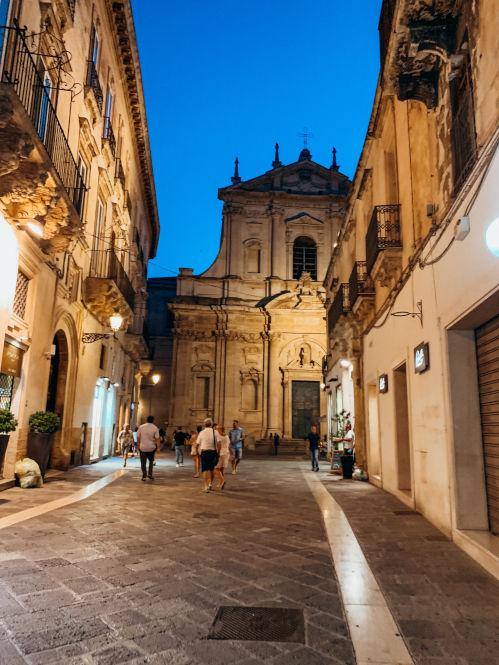 Lecce am Abend