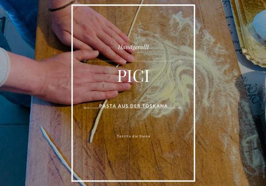 Handgerollte Pici