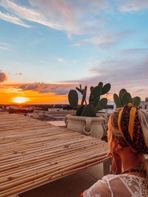 Sonnenuntergang in Matino