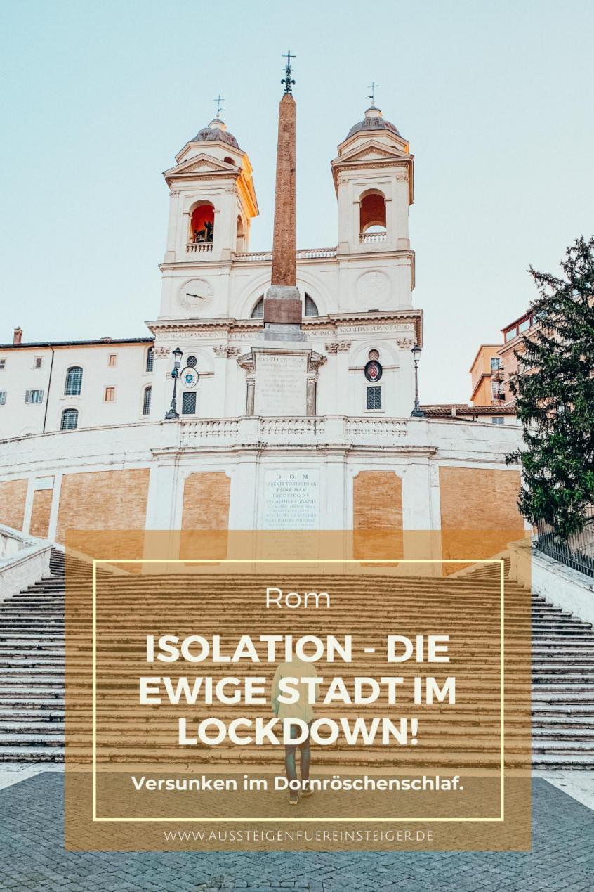 Spanische Treppe Rom - Zur Zeit des Lockdown