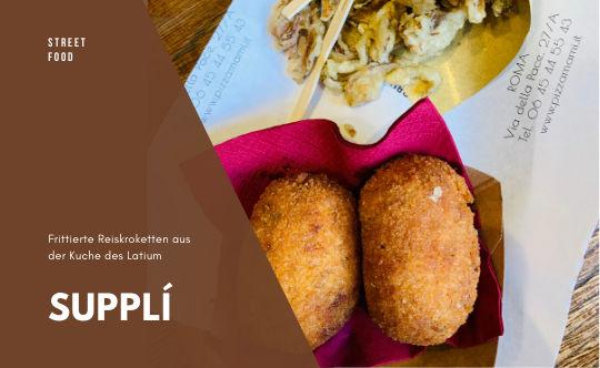 Frittierte Reiskroketten - Supplí