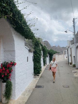 Straße in der Stadt Alberobello