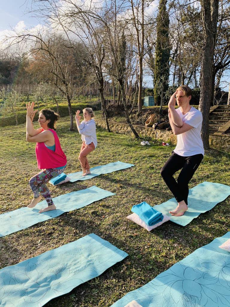 Yoga in der Toskana