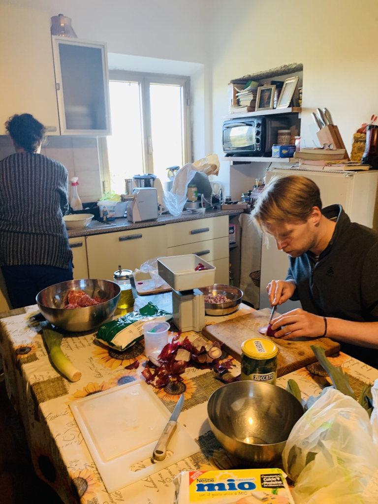 Zubereitung Abendessen